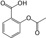 Aspirin: C9H8O4