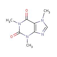 caffeine molecular structure
