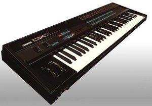 Um sintetizador FM clássico, a Yamaha DX7.