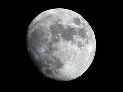 The Moon is our nearest neighbour in space.