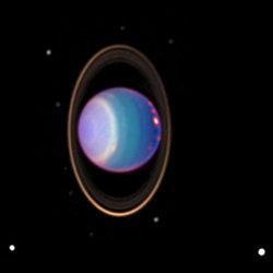 Uranus's rings and moons