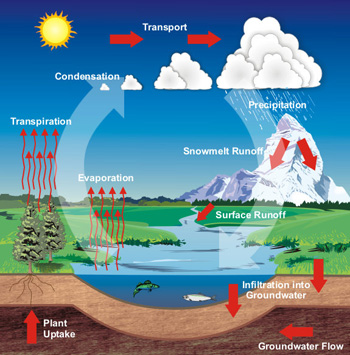 What causes it to rain or snow the water cycle also known as the hydrologic cycle refers to the continuous movement of water between the earth and the atmosphere ccuart Image collections